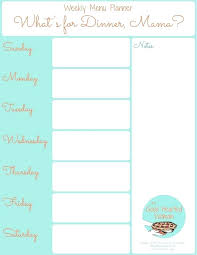 Weekly Menu Best Weekly Menu Planners Ideas On Meal Planner Template And Recipe ...