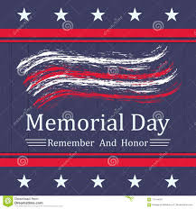 Vector Memorial Day Background With Stars Stripes And