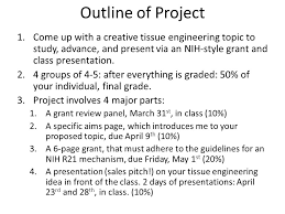 nih grant project chemeng ppt video online  outline of project come up a creative tissue engineering topic to study advance