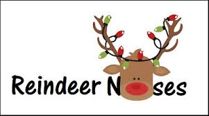 48 Reindeer Noses Christmas Labels Stickers Tags Presents