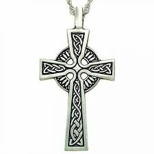 small celtic cross antiqued pewter pendant w chain pack of 2
