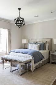 tan and blue boy bedroom with chrome