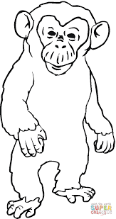 Small Picture Angry Chimpanzee coloring page Free Printable Coloring Pages