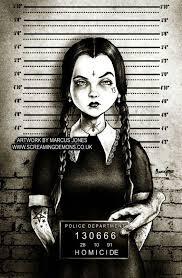 Pin by Georgina Sims on Wednesday Addams   Horror art, Mug shots, Canvas  art prints