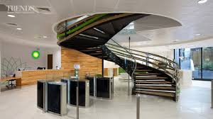Office Stairs Modern Office Fit Out For Bp With Central Spiral Staircase Youtube