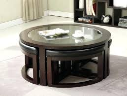 coffee table with ottomans underneath coffee table wood coffee table with ottomans underneath round ottoman design