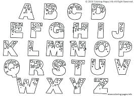 Letter Coloring Pages For Adults Luxury Alphabet Letters Coloring