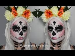 sugar skull makeup tutorial costume day of the dead makeup tutorial 2016