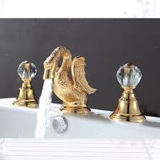 gold swan bathtub faucet. gold finish 3 pcs roman lavatory sink faucet with crystal handles widespread cute little luxurious swan goose bathroom plants -- aliexpress bathtub d