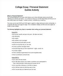 Personal Statement Essay Examples For College Personal Statement ...