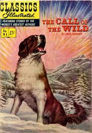 the call of the wild  cover of classics illustrated the call of the wild published in 1952