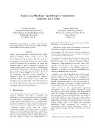 Logical Design Definition Pdf Logical Data Modeling Of Spatiotemporal Applications