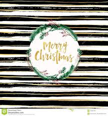 Merry Christmas Card Design Black And White Brush Background And