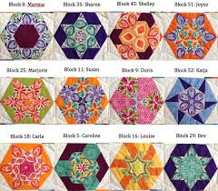 52 new ways to sew a hexagon quilt (+ giveaway!) - Stitch This ... & English paper piecing blocks from The New Hexagon Adamdwight.com