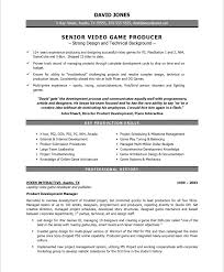 Exceptional Resume Examples Video Game Producer Free Resume Samples Blue Sky Resumes