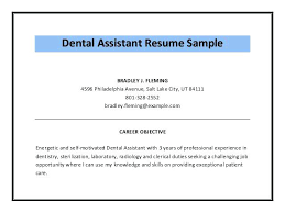 Medical Assistant Resume Objectives Creative Resume Objective Examples For Dental Assistant About 83