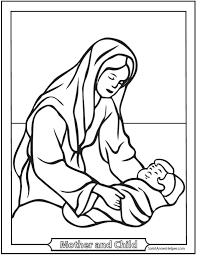 Printable Nativity Scene Coloring Pages At Getdrawingscom Free