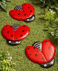 Ladybug Garden Lights Ladybug Flag Or Steppingstones Ladybug Garden Outdoor