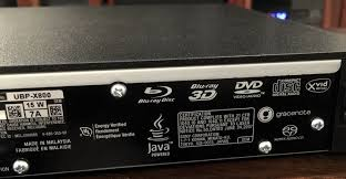 sony ubp x800. the back here is a network lan jack, 2 hdmi outs (hdmi reserved for audio only) and coaxial digital out. oddly there no optical sony ubp x800