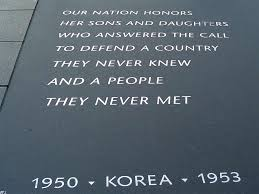 memorial day remembered gardens sculpture and washington korean war quotes iers korean war memorial