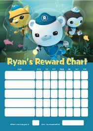 Personalised Octonauts Reward Chart Adding Photo Option Available