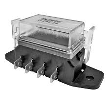 0 234 24 durite 4 way blade fuse holder box for spade fuses durite 4 way standard blade fuse box cover re 0 234 24