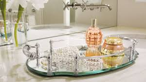 small glass vanity trays ideas