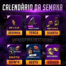 Novidade: Agenda Semanal BR confirmada no Free Fire! - Free Fire Dicas