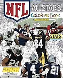 nfl all stars 2018 the ultimate football coloring stats and activity book for s