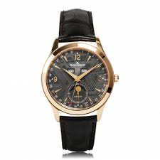 mens rose gold watches the watch gallery jaeger lecoultre master calendar automatic rose gold black dial mens watch q1552540