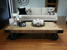 appealing rustic coffee table with wheels best ideas about coffee table with wheels on diy
