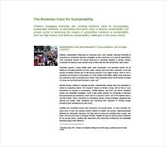 business case templates sample example format  business case for sustainability sample pdf