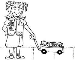 Brownie Girl Scout Coloring Page Scraphappypapercrafter
