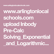 pdf with examples for solving exponential and logarithmic equations and problems to solve