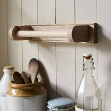 kitchen towel holder. Unique Holder Oak Kitchen Paper Towel Holder To