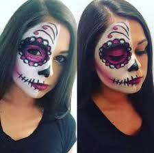 41 beautiful colorful sugar skull makeup ideas half face