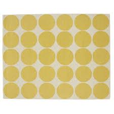 sweetlooking polka dot rugs good looking yellow rug pottery barn