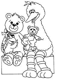 Sesame Street Coloring Pages Birthday Sesame Street Coloring Pages