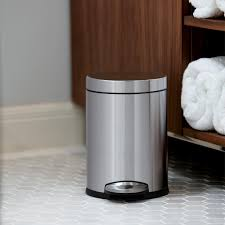 Decorative Kitchen Trash Cans Home Tips Stainless Steel Step Trash Can Kitchen Trash Cans