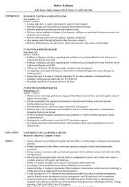 Admin Resume Format Download Cv System It Administrator Samples