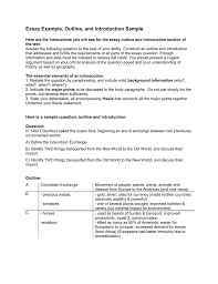 Essay Example Outline And Introduction Sample