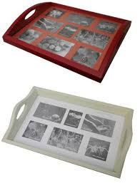 Sell serving tray with photo frame