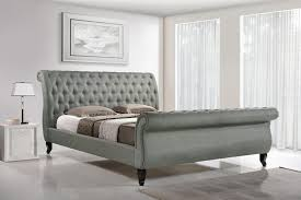 grey upholstered sleigh bed. Grey Upholstered Sleigh Bed