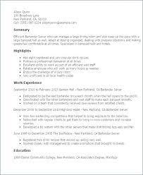 Resume For Food Server Food Server Resume Objective Examples For Orlandomoving Co