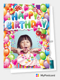 Our custom cards are also perfect for making personalised invitations using your own photos or text. Free Printable Photo Happy Birthday Cards Online Customized Photo Cards Printed Mailed For You International Online Or With Our Free Postcard App Postcard Service