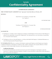 Financial Confidentiality Agreements Confidentiality Agreement Form US LawDepot 1