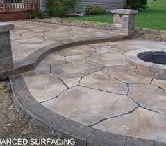 concrete patio with fire pit.  Pit Fire Pit Top 10 Concrete Patio Pit Outdoor With  Stamped Pit Ideas Inside With