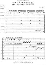 drum set sheet music suite for solo drum set percussion ensemble drum place