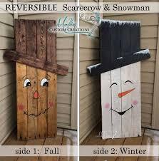 reclaimed wood snowman