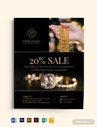 Jewelry Flyer Free Jewelry Shop Flyer Template Word Psd Apple Pages